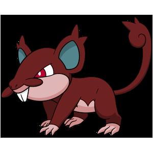Artwork shiny de Rattata d'Alola Pokémon Épée et Bouclier