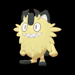 Artwork shiny de Miaouss de Galar Pokémon Épée et Bouclier