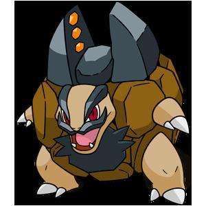 Artwork shiny de Grolem d'Alola Pokémon Épée et Bouclier