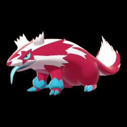 Artwork shiny de Linéon de Galar Pokémon Épée et Bouclier