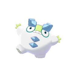 Artwork shiny de Darumarond de Galar Pokémon Épée et Bouclier