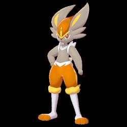 Artwork shiny de Pyrobut Pokémon Épée et Bouclier
