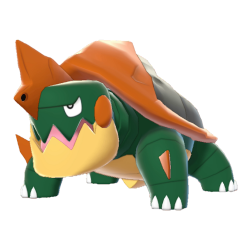 Artwork shiny de Torgamord Pokémon Épée et Bouclier