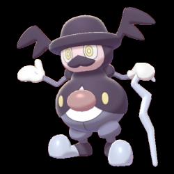 Artwork shiny de M. Glaquette Pokémon Épée et Bouclier