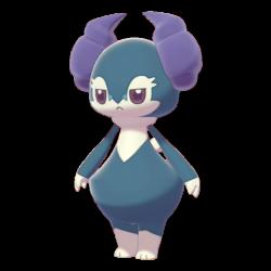 Artwork shiny de Wimessir Pokémon Épée et Bouclier