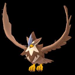 Sprite mâle chromatique de Étouraptor - Pokémon GO
