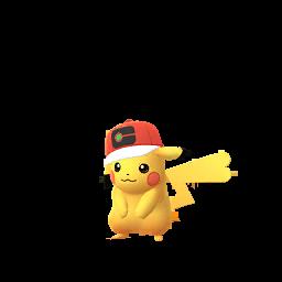 Imagerie de Pikachu (casquette-monde) - Pokédex Pokémon GO