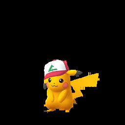 Imagerie de Pikachu (casquette) - Pokédex Pokémon GO