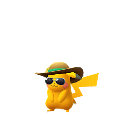 Sprite mâle chromatique de Pikachu - Pokémon GO