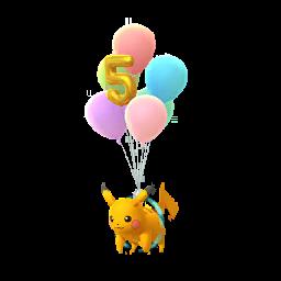 Pokémon pikachu-volant-5eme-anniv-s