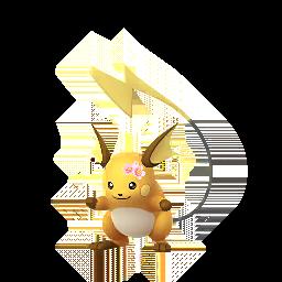 Pokémon raichu-fleur
