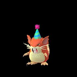 Sprite mâle chromatique de Rattatac - Pokémon GO