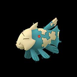 Sprite femelle chromatique de Relicanth - Pokémon GO