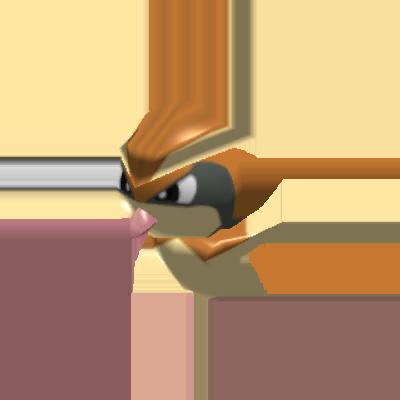 Sprite de Roucool - Pokémon Rumble Rush