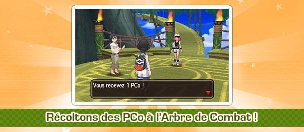 Mini quête Pokémon Ultra-Soleil et Ultra-Lune : Récoltons des PCo à l'Arbre de Combat !