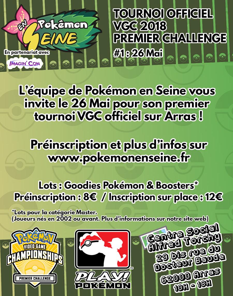 Nouveau tournoi VGC Pokémon en Seine à Arras le 26 Mai