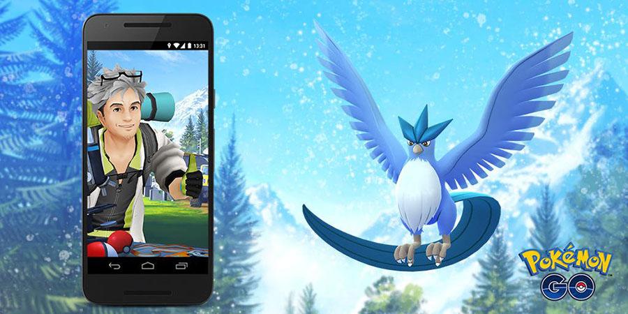 Artikodin à l'honneur de la Mission de Terrain sur Pokémon Go en Juin