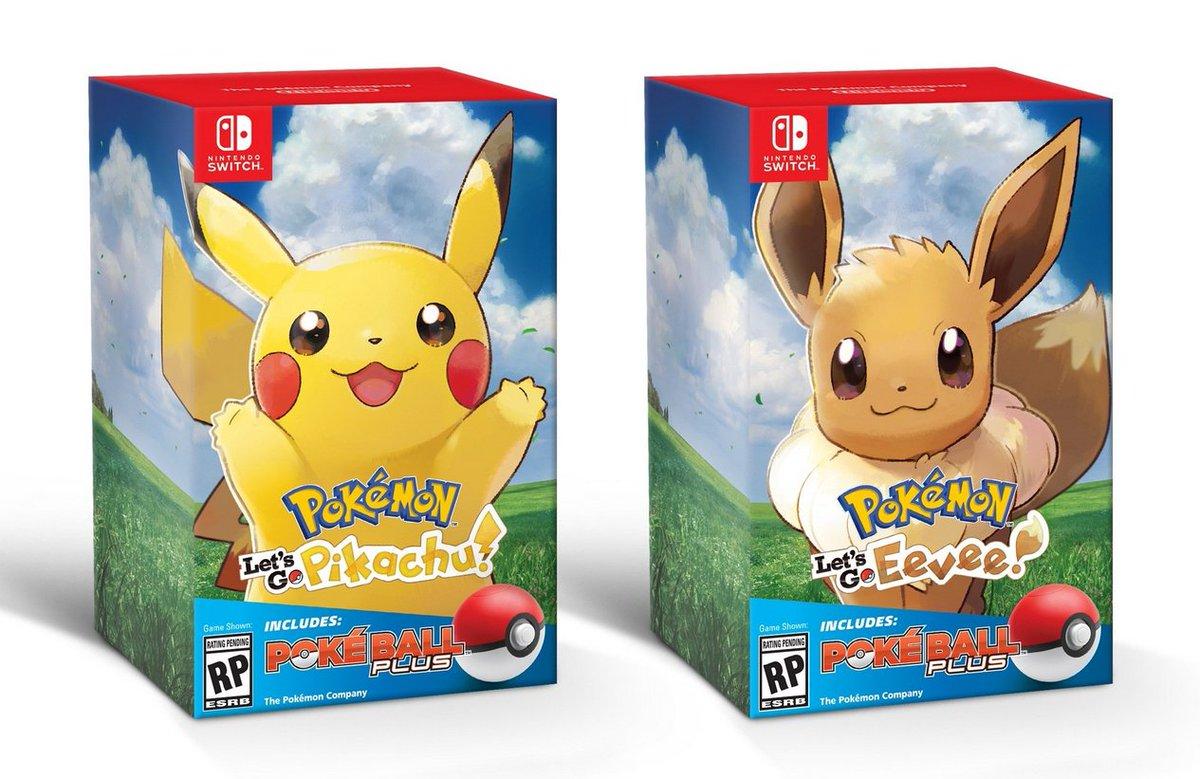 Éditions spéciales Pokémon Let's Go Pikachu et Pokémon Let's Go Évoli