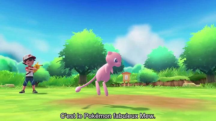 Mew disponible sur Pokémon Let's Go Pikachu et Pokémon Let's Go Évoli