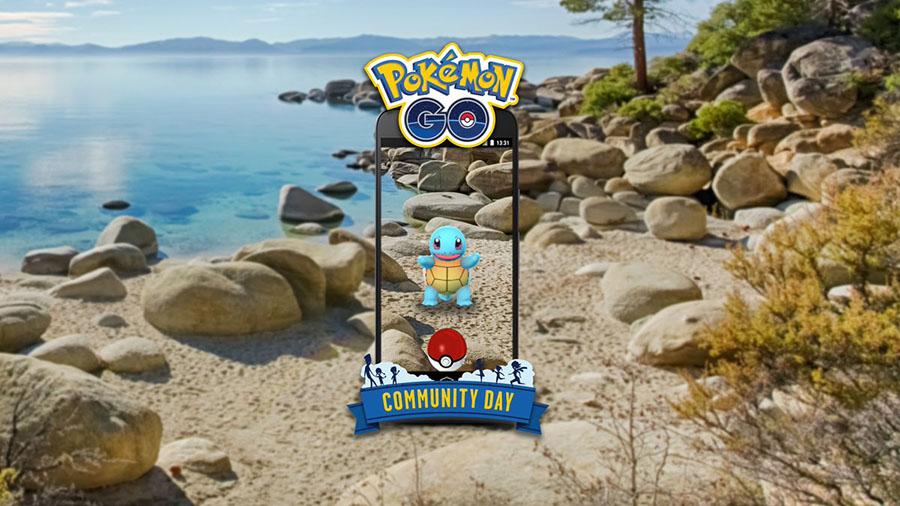 Carapuce en vedette lors du Pokémon Go Community Day du mois de Juillet