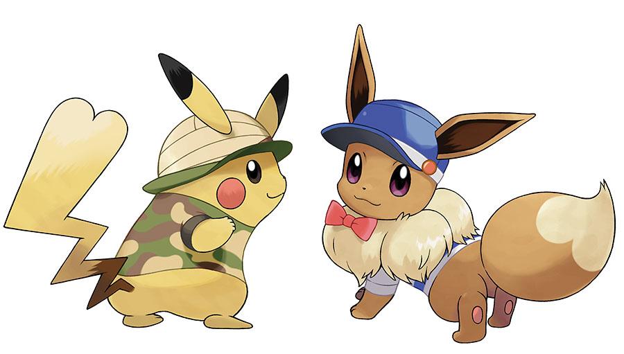 Customisation des Dresseurs et Pokémon Pokémon Let's Go Pikachu et Évoli