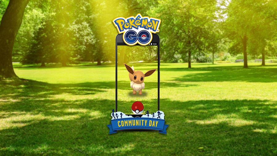 Évoli en vedette lors du Pokémon Go Community Day du mois d'Août
