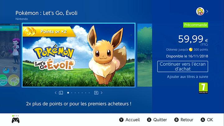 Pokémon Let's Go Pikachu et Évoli : le pré-téléchargement est disponible en France