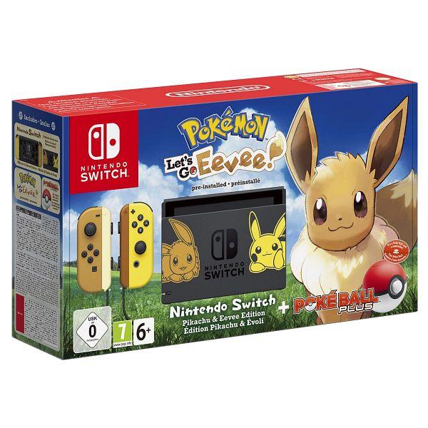 Console Nintendo Switch Pokémon Let's Go Pikachu et Évoli