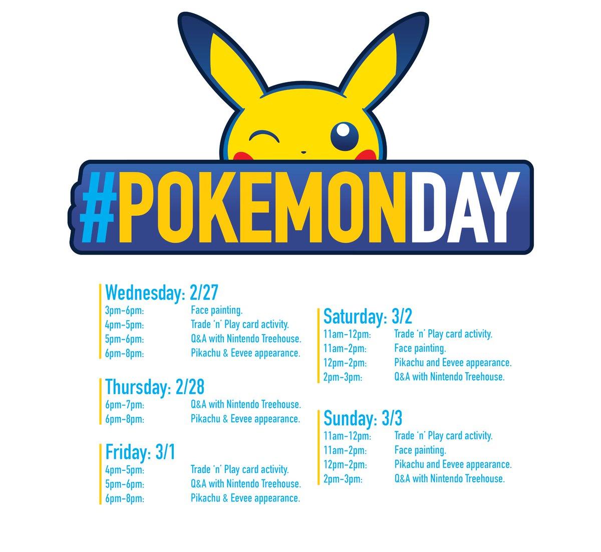 Le programme du Nintendo Store de New York lors du Pokémon Day dévoilé