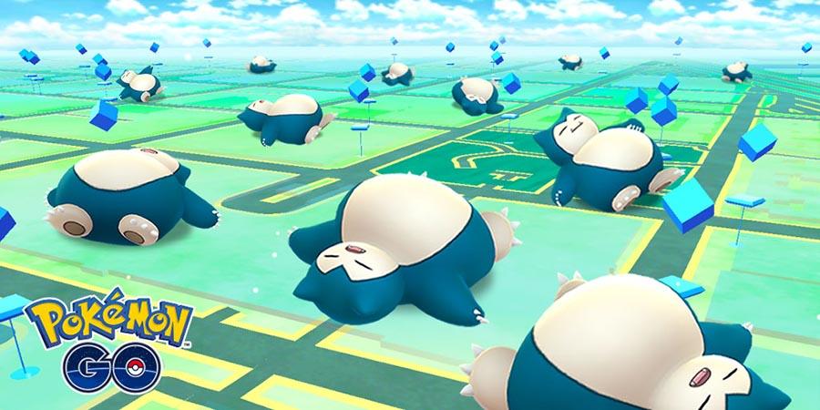 Pokémon GO : Événement Ronflex sur le jeu