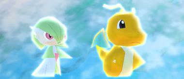 Pokémon Rumble Rush - Dracolosse et Gardevoir