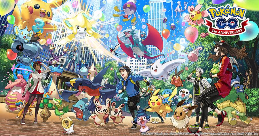 Pokémon GO fête ses 3 ans via un événement !
