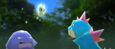 Pokémon Rumble Rush - Celebi et Grotadmorv