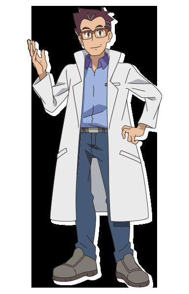 Professeur Sakuragi Animé Pokémon Épée et Bouclier