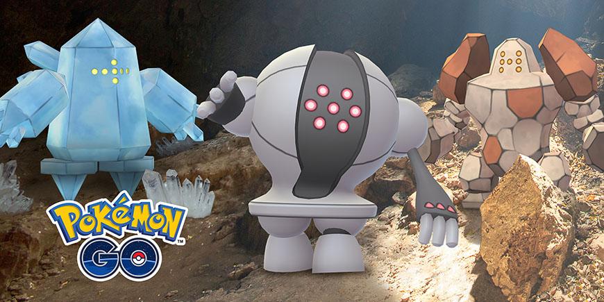 Pokémon GO - Regirock, Regice et Registeel reviennent dans les raids !