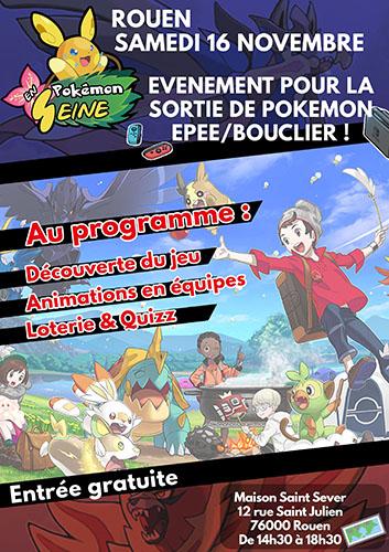 Pokémon Épée et Bouclier : événement Pokémon en Seine pour la sortie du jeu !