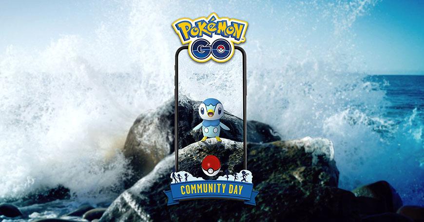 Tiplouf en vedette lors du Pokémon Go Community Day du mois de Janvier