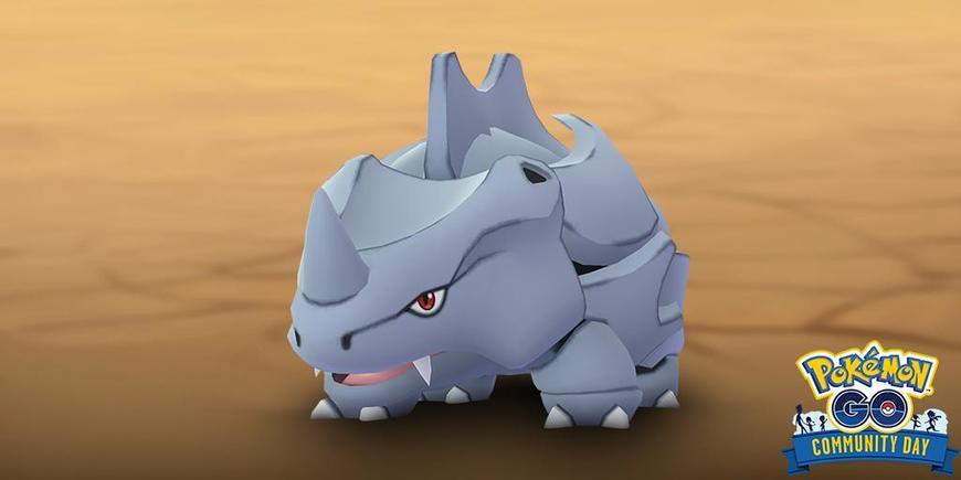 Rhinocorne en vedette lors du Pokémon Go Community Day du mois de Février