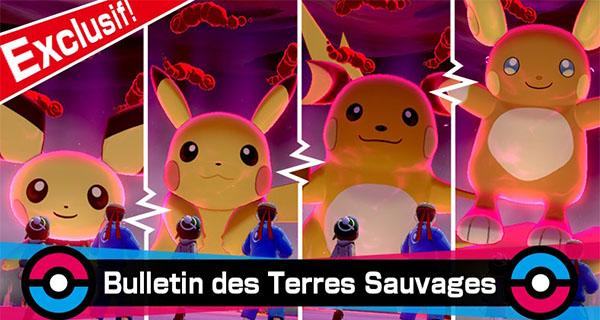 Pokémon Épée et Bouclier : Pikachu et sa famille en Raids Dynamax