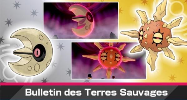 Pokémon Épée et Bouclier : nouvel événement Dynamax avec Séléroc et Solaroc chromatiques